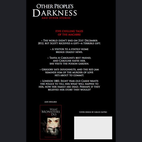 Reverse of book Other People's Darkness