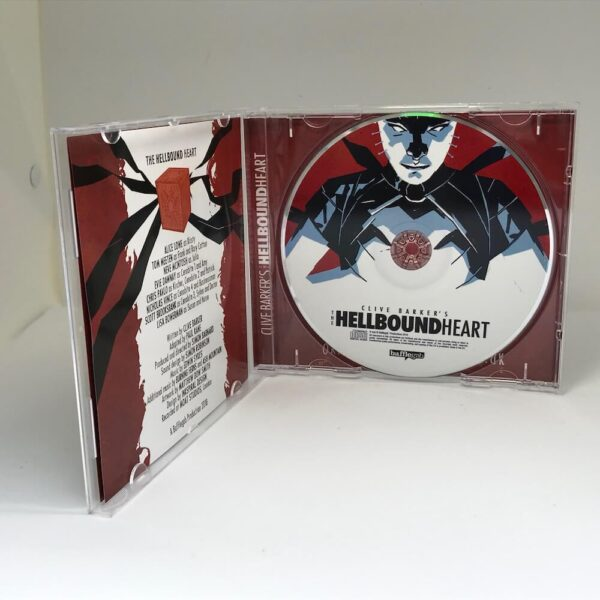 Open CD case audio play Clive Barker's Hellbound Heart.