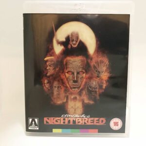 Front cover of Nightbreed blu-ray. Painted image featuring monsters from the film.