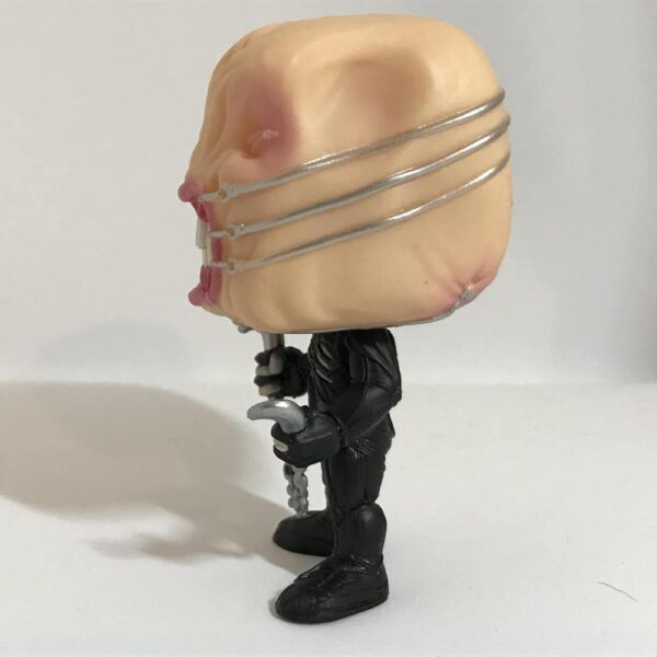 Funko Pop Chatterer out of box, figure's left side.